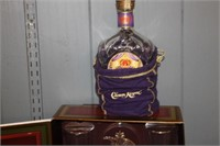Budweiser Collector Set & Crown Royal Bottle