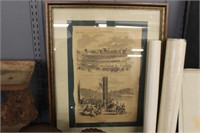 1862 Harper's Weekly Framed Page