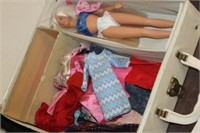 Vintage Barbie Doll Clothes in Case