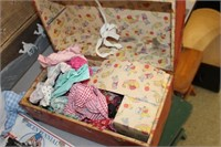 Case of Vintage Doll Clothes