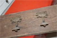 Cast Iron & Wood Turtle Hanger