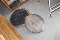 2 Wiskey Barrel Tops