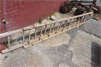 Vintage Wooden Extension Ladder