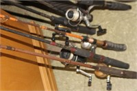 Lot of Rods & Reels & Tackle Boxes