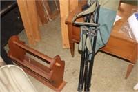 Wooden Magzine Rack & Folding Chair