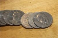 Lot of 20 Eisenhower Dollars