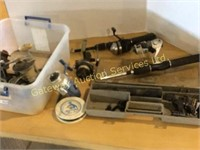 Fishing Rod in a Case and  Assorted Reels