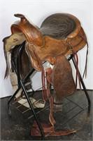 Tex Tan, Yoakum,Texas Brahma Brand Western Saddle   Idaho