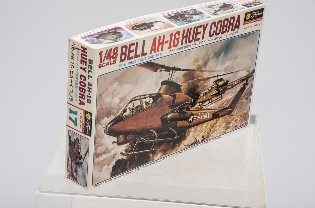 Fujimi Bell AH-1G Huey Cobra Model Helicopter | The K and B