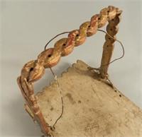 Important Mid 19th C. Mohawk Cradleboard