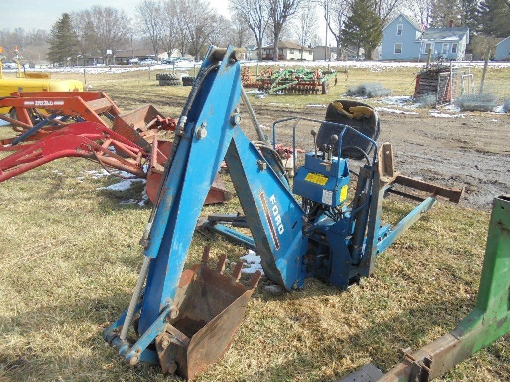 Ford Model 758B Mid Mount Backhoe Attachment   Graves Online Auctions