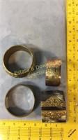4 Brass Copper Horn Bangles & Cuffs