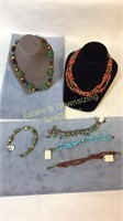 6 Piece Bracelets and Necklaces SP & Other