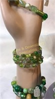 10 Pc Beaded Bracelets & Necklaces Glass Stone &
