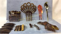 11 Pc Hair Accessory Lot Clips & Combs