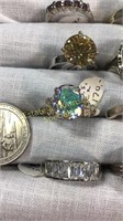 12 Semiprecious Size 10 Sterling Rings