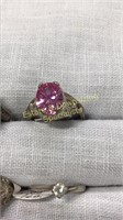 12 Semiprecious Sterling Rings Size 5