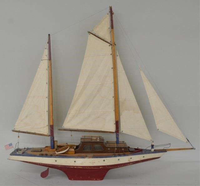 Large Custom Build Wooden Sailboatyacht Kraft Auction Service