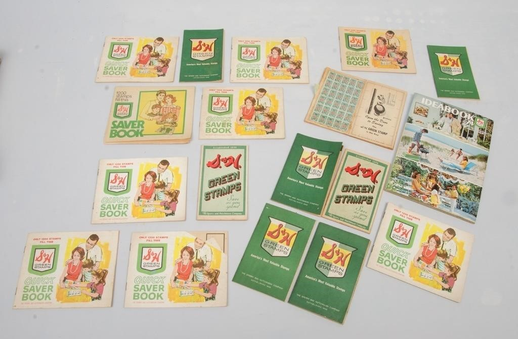 Collection of S&H Green Stamps Lot K- och B-auktionsföretaget  The K and B Auction Company