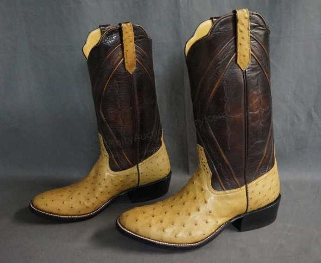 Rios Of Mercedes Full Quill Ostrich Boots Size 9 E Trinity Auction