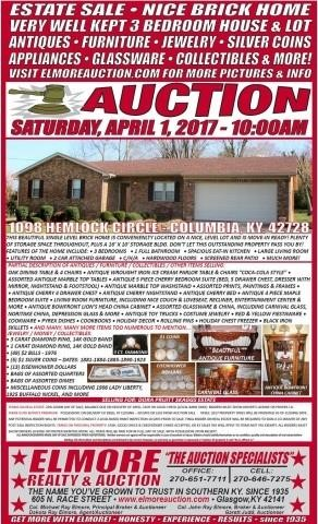 2 PAGE ADVERTISING BROCHURE | Elmore Realty & Auction, LLC