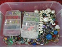Plastic Containers of Beads
