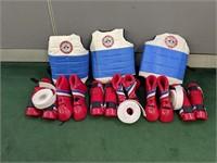 3) Sets of XS Taekwondo Gear
