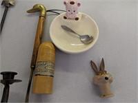 Pampered Chef Stoneware, Horseshoe Coat & Candle