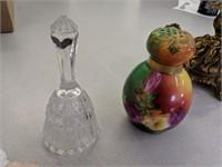 Glass Bell, Glass Dish, Flowered Pot, Grandmother