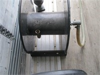 Heavy Duty Hose Reel and Metal Plant Pot