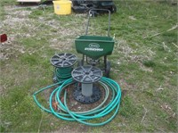 Lawn Spreader, Hoses and Reels