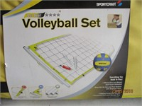 Yard Volleyball Set and Horseshoes