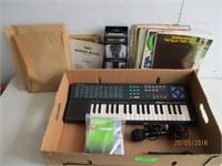 Keyboard, Microphones, Music Books
