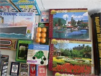 Toys, Stuffed Animals, Playing Cards, Puzzles