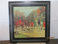 Vintage Picture Top Card Table