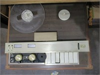 Cabinet with Speakers, Record Player,  Recorder