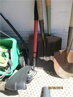 Hoses, Aerator, Shovels, Blower, Trimmer, Flagpole