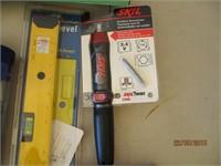 Air Grease Gun, Wall Hooks, Multimeter, Sharpener