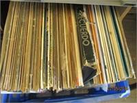 4) Plastic Crates of Records
