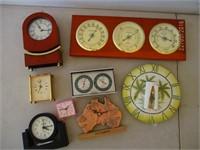 Clocks, Thermometer, Barometer, Humidity Gauge