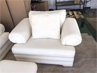 Nouveau Concepts White Couch, 2) Chairs/Ottoman