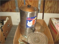Tea Dispenser, Glass Plate, Bowl
