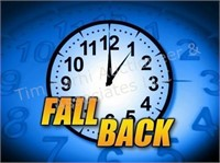REMINDER: Turn your clocks back one hour