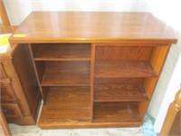 Wood Bookshelf w/ Sliding Shelf
