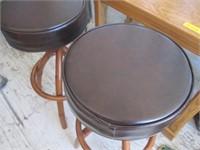 2) Cushioned Bar Stools