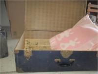 Dark Blue Box w/ Baby Chatham Blankets