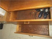 Wood Shelf w/ 2 sliding Drawers