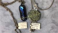 10 Piece Lampwork and Art Glass Jewelry Lot