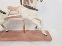 Pink Carousel Horse Home Decor