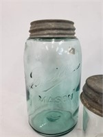 Antique Ball & Atlas Blue Mason Jar Lot Of Six